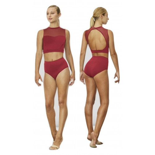 Top Danza Bloch fronte/retro fucsia