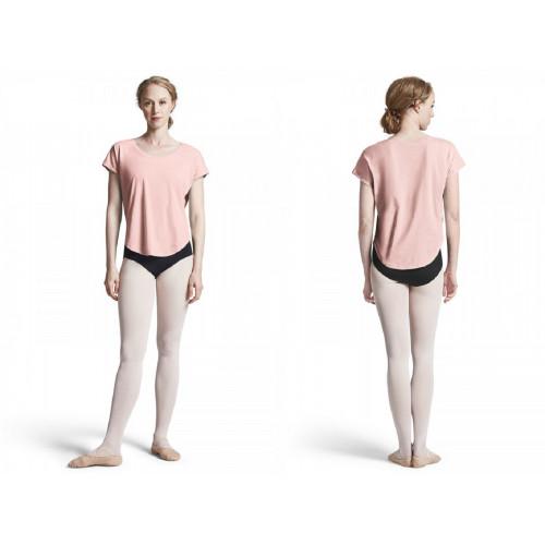Maglietta Danza Bloch con scollo a barchetta fronte/retro rosa