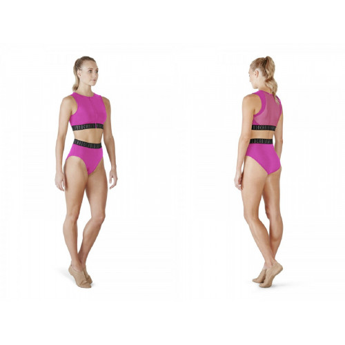 Top Bloch Remy fronte/retro fucsia