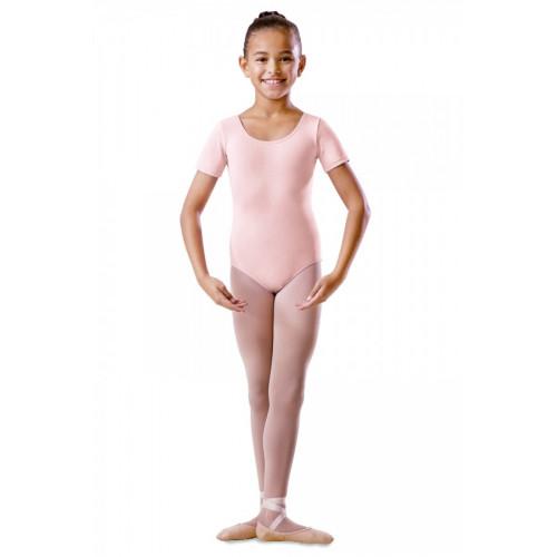 Body Danza bambine Bloch a maniche corte rosa