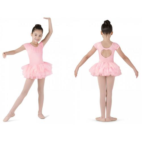 Tutù per bambina Ife Bloch fronte/retro rosa