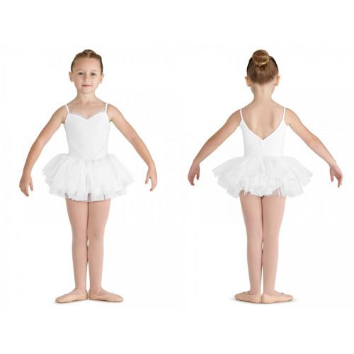 Tutù Valentine Bloch per bambine bianco fronte/retro