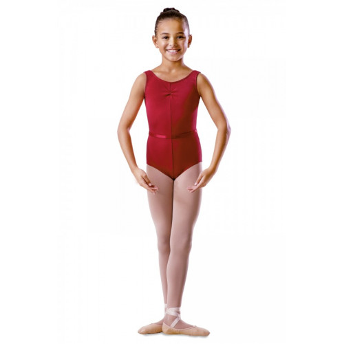 Body Bambina Bloch con Fronte Arricciato rosso
