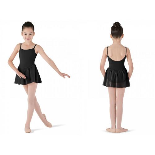 Body bambina Bloch Blossom nero fronte/retro