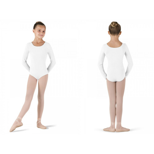Body Petit Bloch bianco fronte/retro
