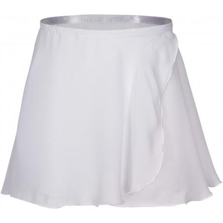 Gonnellino in chiffon bianco