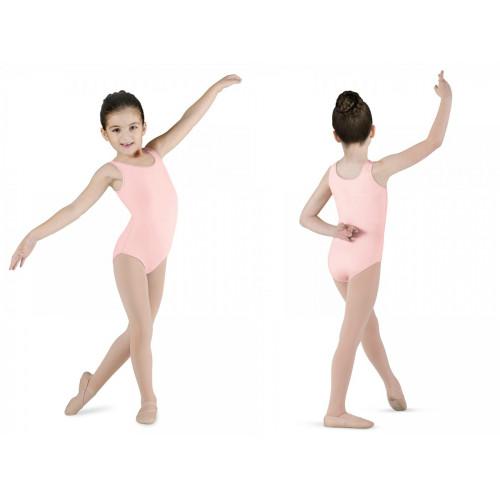 Body Dinamic Bloch per bambina rosa chiaro fronte/retro