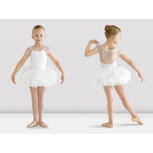 Tutù Hanami Bloch per bambina bianco fronte/retro