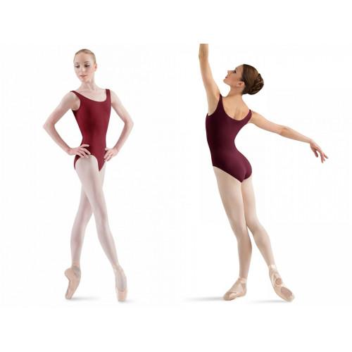 Body Ballerina Bloch fronte/retro bordeaux