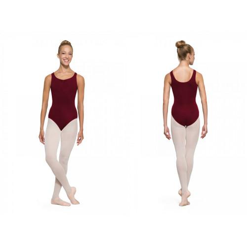 Body Danza Bloch Adagio amaranto fronte/retro