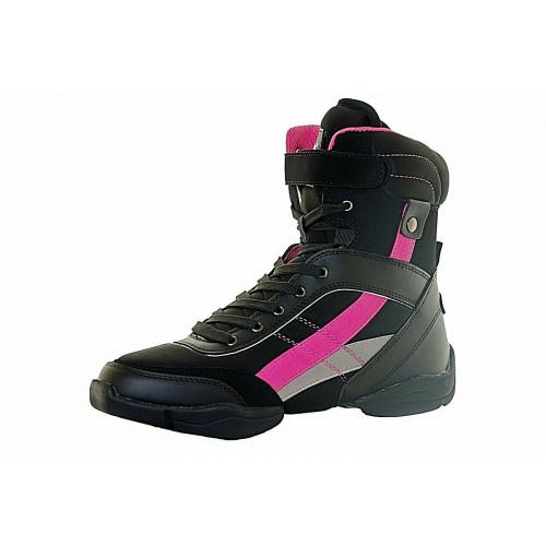 Sneakers Capezio nere/rosa trequarti frontale