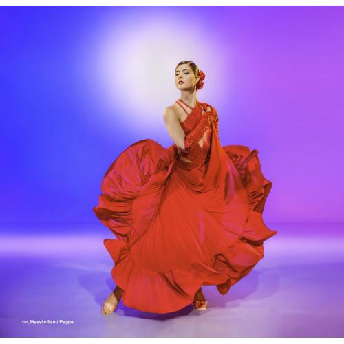 Vestito Flamenco rosso
