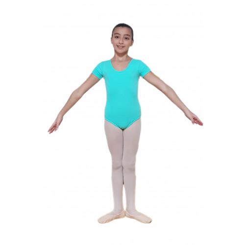 Body mezza manica con fianchini e arriccio scollatura normale azzurro indossato
