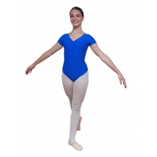 Body mezza manica con fianchini e arriccio e scollatura normale