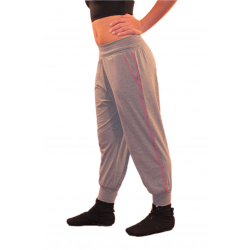 Pantalone con cuciture a contrasto