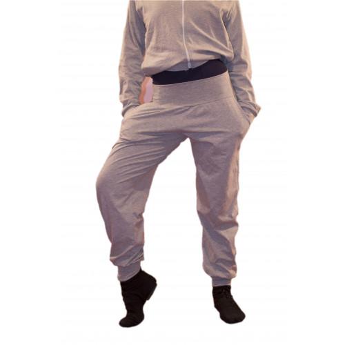 Pantalone con semplice con fascia in vita alta